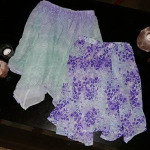2 TCP Skirts Flowy Garden Flowers girls 7 8 medium